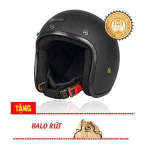 Nón bảo hiểm 3/4 Bulldog Bravo (Tặng balo Bulldog)