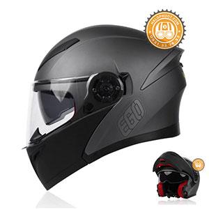 Mũ bảo hiểm Lật hàm 2 kính EGO E-9
